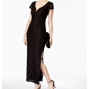 NWT Connected Apparel sequined lace gown